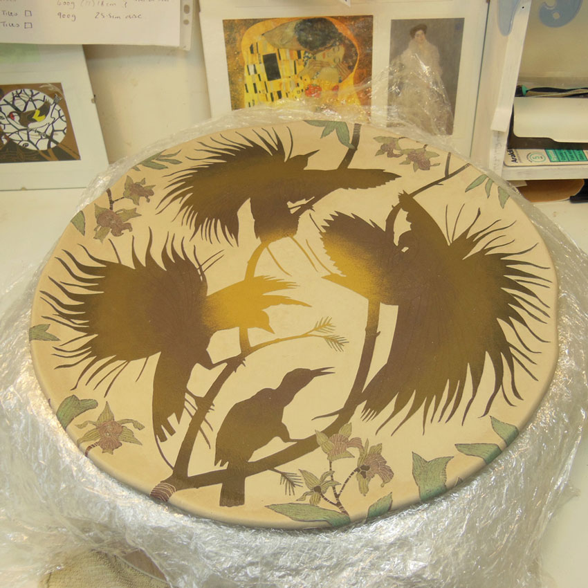 Making a Raggiana bird of paradise & orchid wall art piece - Tiffany Scull
