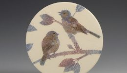 Chaffinch & Cherry small wall hanging