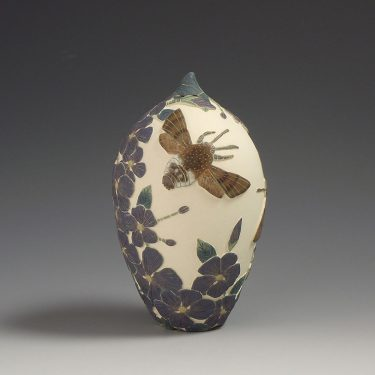 Humming Hawk Moth and Periwinkle - Tiffany Scull