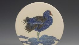 Moorhen & Waterlily small wall hanging