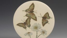 Swallow Tailed Butterfly & Daisy small wall hanging