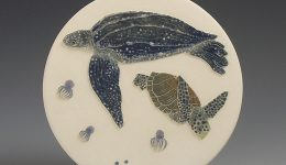 Leatherback & Kemps Ridley turtles wall hanging - Tiffany Scull