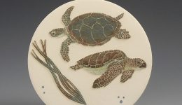 Logger head & Green Turtles wall hanging - Tiffany Scull