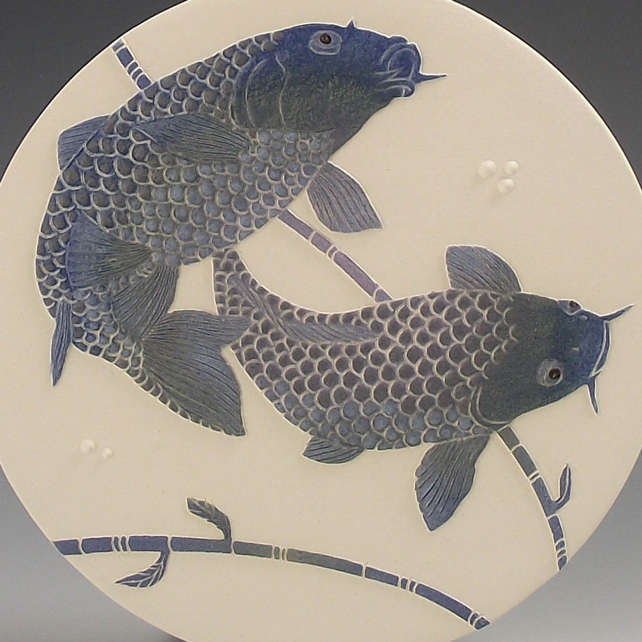 Blue Koi Carp wall hanging