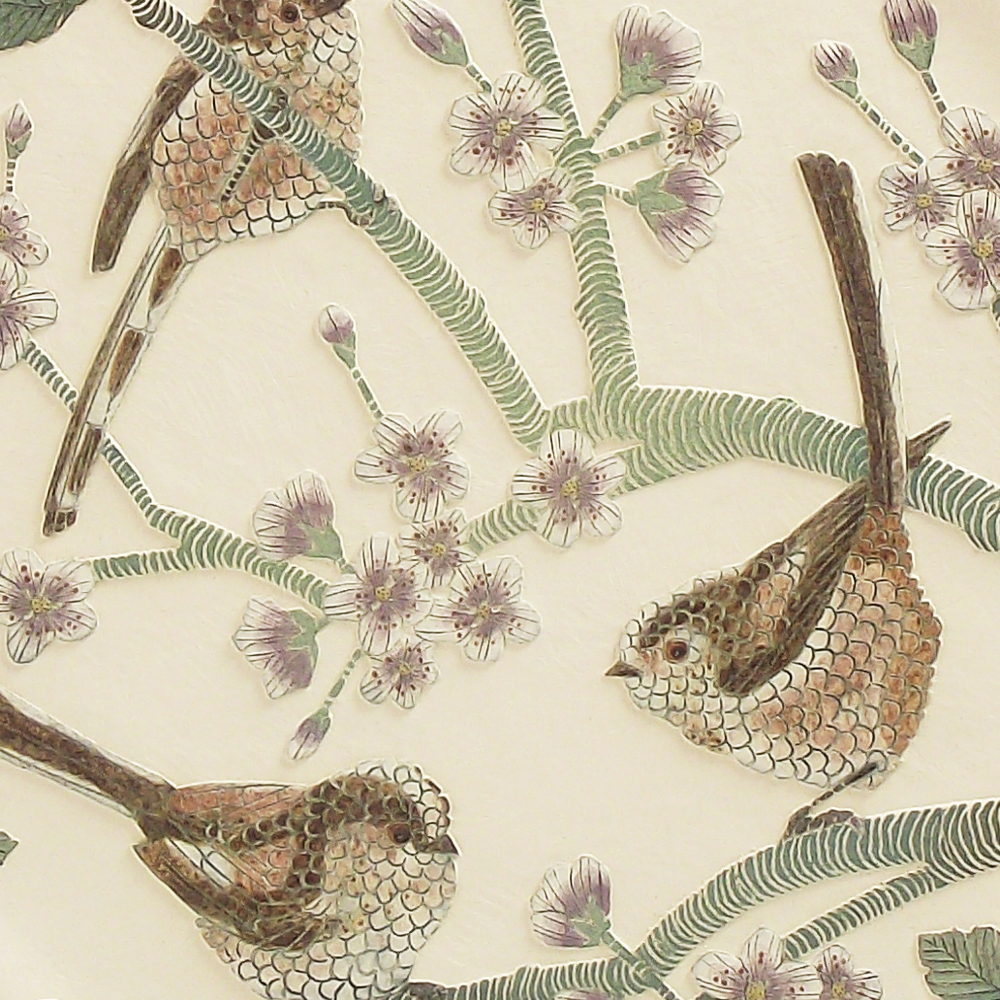 Long Tailed Tits & Cherry Blossom