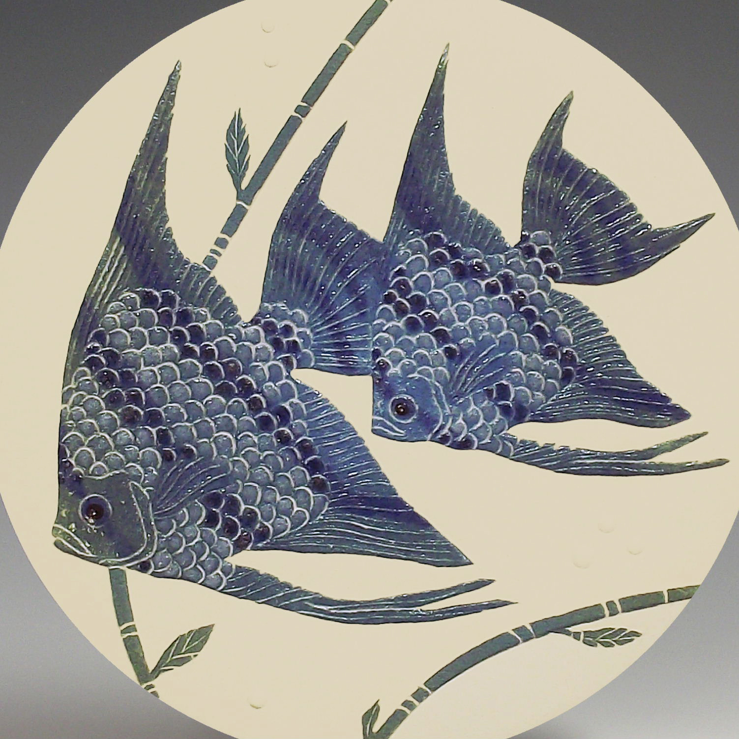 Two Angelfish in Blue