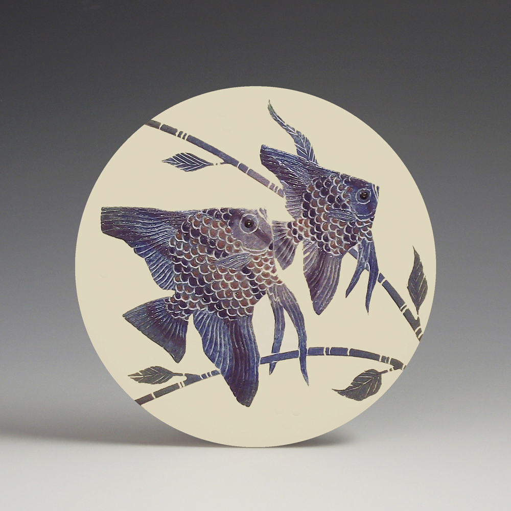 Two Angelfish in Lilac