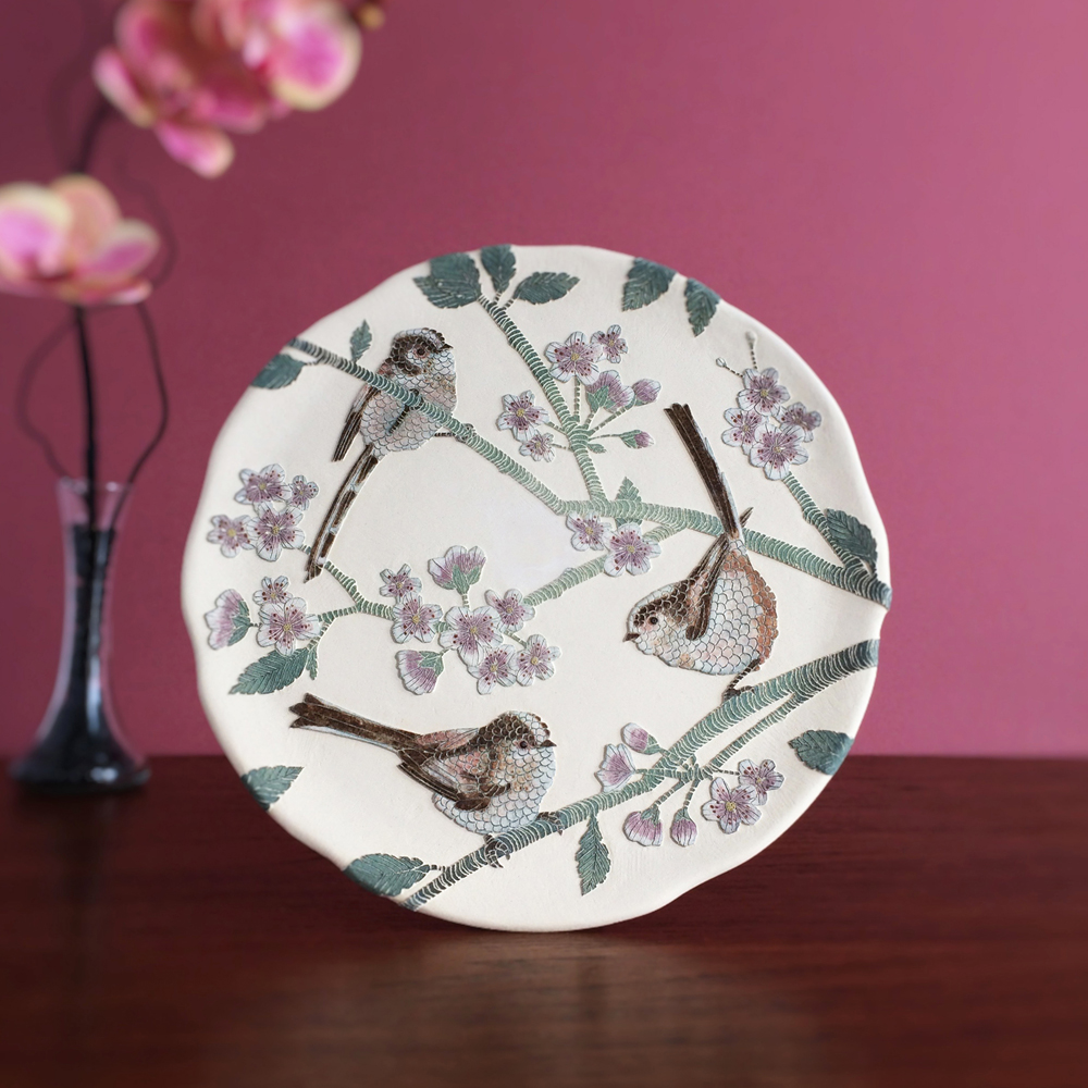 ceramic sale long tailed tits