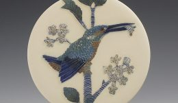 kingfisher & minnow wall hanging